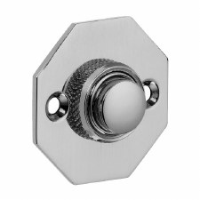 Croft Octagonal Door Bell Push 1916 Polished Chrome
