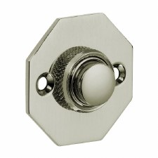 Croft Octagonal Door Bell Push 1916 Polished Nickel