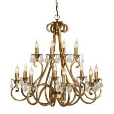 Interiors 1900 Oksana 12 Light Chandelier Antique Brass
