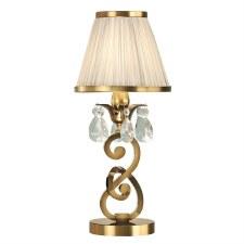 Interiors 1900 Oksana Mini Table Lamp Antique Brass with Beige Shade