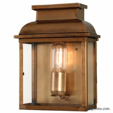 Elstead Old Bailey Flush Outdoor Wall Lantern Antique Brass