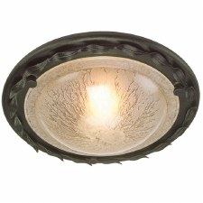 Elstead Olivia Flush Ceiling Light Black/Gold