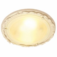 Elstead Olivia Flush Ceiling Light Ivory/Gold