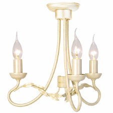 Elstead Olivia 3 Arm Chandelier Ivory Gold