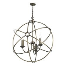 David Hunt ORB0375 Orb 3 Light 600mm Chandelier Antique Brass