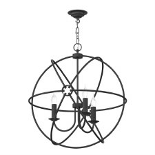 David Hunt ORB0339 Orb 3 Light 600mm Chandelier Ash Grey