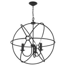 David Hunt ORB0322 Orb 3 Light 600mm Chandelier Black