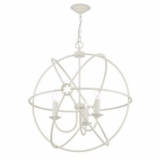 David Hunt ORB0333 Orb 3 Light 600mm Chandelier Cream