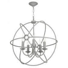 David Hunt ORB0539 Orb 5 Light 600mm Chandelier Ash Grey