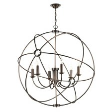 David Hunt ORB0664 Orb 6 Light 900mm Chandelier Antique Copper
