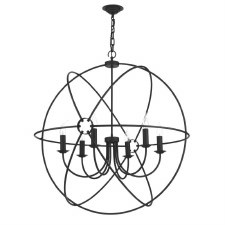 David Hunt ORB0622 Orb 6 Light 900mm Chandelier Black