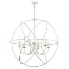David Hunt ORB0633 Orb 6 Light 900mm Chandelier Cream