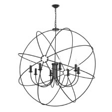 David Hunt ORB0822 Orb 8 Light 1200mm Chandelier Black