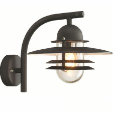 Elstead Oslo Outdoor Wall Light Black