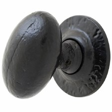 From The Anvil Oval Mortice or Rim Door Knobs Black