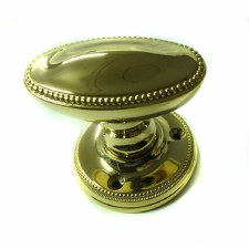 Regency Princess 915 Oval Door Knobs Polisdhed Brass Unlacquered