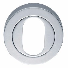 Oval-profile Escutcheon Polished Chrome