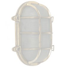 Oval Ships Large Bulkhead Lamp Polished Brass Unlacquered