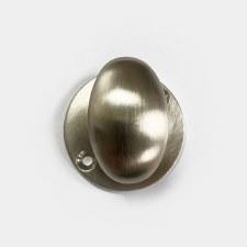 Aston Oval Thumb Turn Only Satin Nickel