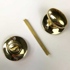 Aston Oval Thumb Turn & Release Polished Brass Unlacquered