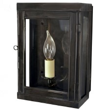 Oxbridge Box Wall Lantern Antique Brass Antique