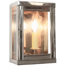 Oxbridge Box Wall Lantern Nickel