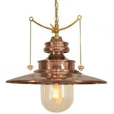 Paddington Station Large Hanging Lantern Polished Brass with Clear Glass