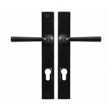 Stonebridge Padstow Multipoint Entry Door Handles Armor Coat Flat Black