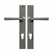Stonebridge Padstow Multipoint Entry Door Handles Armor Coat Satin Steel