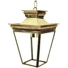 Pagoda Hanging Lantern Small Polished Brass