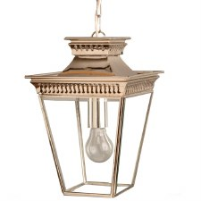 Pagoda Hanging Lantern Small Nickel