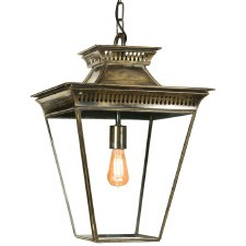 Pagoda Hanging Lantern Medium Light Antique Brass