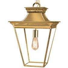 Pagoda Hanging Lantern Medium Polished Brass