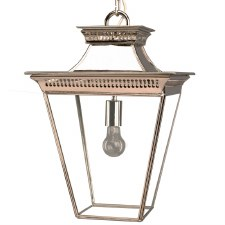 Pagoda Hanging Lantern Medium Nickel