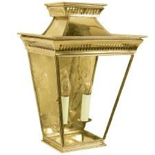 Pagoda Large Flush Outdoor Lantern Polished Brass