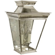 Pagoda Large Flush Outdoor Lantern Nickel
