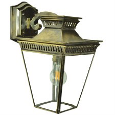 Pagoda Overhead Arm Wall Lantern Light Antique