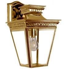 Pagoda Overhead Arm Wall Lantern Polished Brass