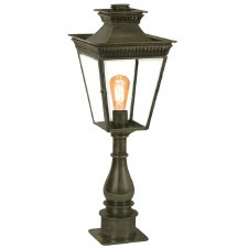 Pagoda Pillar Tall Lantern Antique Brass