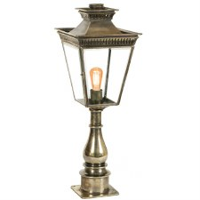 Pagoda Pillar Tall Lantern Light Antique Brass