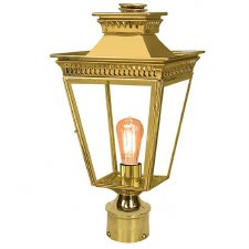 "Pogoda Lamp Post Head to suit 2"" dia. Polished Brass"