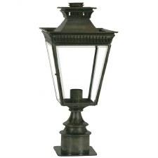 Pagoda Short Pedestal Lantern Antique Brass