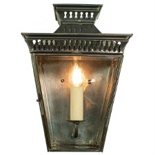 Pagoda Flush Outdoor Lantern Antique Brass