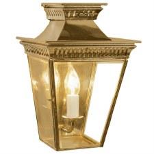 Pagoda Flush Outdoor Lantern Polished Brass