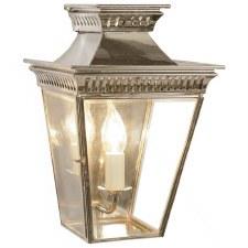 Pagoda Flush Outdoor Lantern Polished Nickel