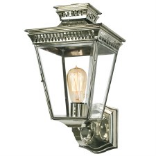 Pagoda Outdoor Wall Lantern Nickel