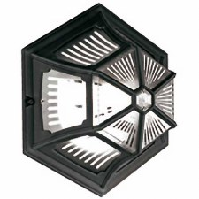 Elstead Parish Flush Outdoor Wall or Ceiling Light Black