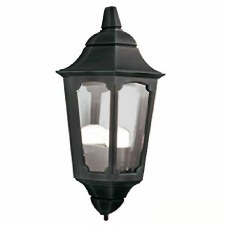 Elstead Parish Flush Outdoor Wall Light Lantern Black