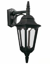Elstead Parish Outdoor Wall Light Lantern Black