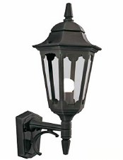 Elstead Parish Outdoor Wall Uplight Lantern Black
